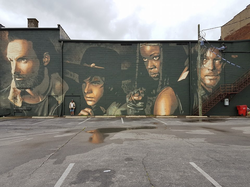 Walking dead day takes over cynthiana kentucky pophorror for Mural walking dead
