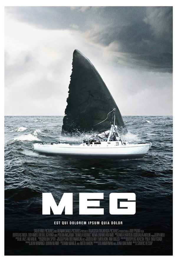 Two New Jaw Dropping Posters for 2018's Shark Film, MEG! - PopHorror
