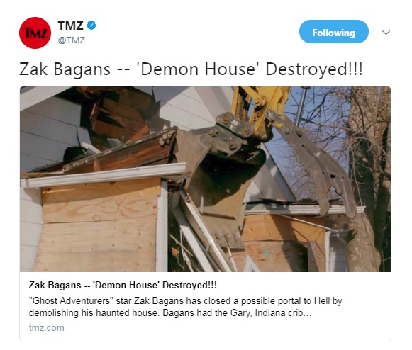 Demon House Destroyed